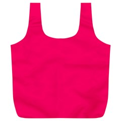 Super Bright Fluorescent Pink Neon Full Print Recycle Bags (L)