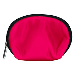 Super Bright Fluorescent Pink Neon Accessory Pouches (Medium)