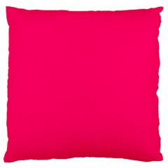 Super Bright Fluorescent Pink Neon Large Flano Cushion Case (two Sides)
