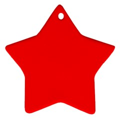 Bright Fluorescent Fire Ball Red Neon Star Ornament (Two Sides)
