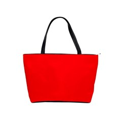 Bright Fluorescent Fire Ball Red Neon Shoulder Handbags