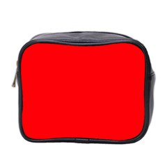 Bright Fluorescent Fire Ball Red Neon Mini Toiletries Bag 2-Side