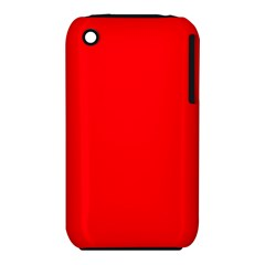 Bright Fluorescent Fire Ball Red Neon iPhone 3S/3GS