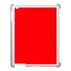 Bright Fluorescent Fire Ball Red Neon Apple iPad 3/4 Case (White)