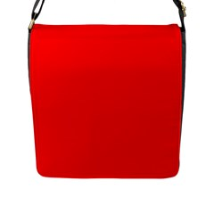 Bright Fluorescent Fire Ball Red Neon Flap Messenger Bag (L)