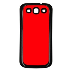 Bright Fluorescent Fire Ball Red Neon Samsung Galaxy S3 Back Case (Black)