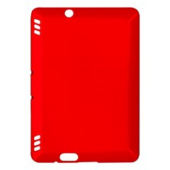Bright Fluorescent Fire Ball Red Neon Kindle Fire HDX Hardshell Case