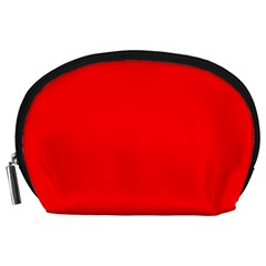 Bright Fluorescent Fire Ball Red Neon Accessory Pouches (Large)