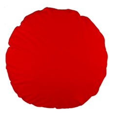 Bright Fluorescent Fire Ball Red Neon Large 18  Premium Flano Round Cushions