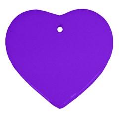 Bright Fluorescent Day glo Purple Neon Ornament (Heart)