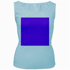 Bright Fluorescent Day glo Purple Neon Women s Baby Blue Tank Top