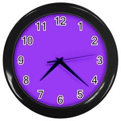 Bright Fluorescent Day glo Purple Neon Wall Clocks (Black)