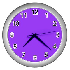 Bright Fluorescent Day glo Purple Neon Wall Clocks (Silver)