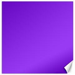 Bright Fluorescent Day glo Purple Neon Canvas 20  x 20