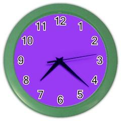 Bright Fluorescent Day glo Purple Neon Color Wall Clocks