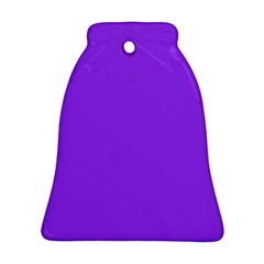 Bright Fluorescent Day glo Purple Neon Bell Ornament (Two Sides)