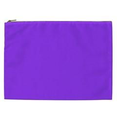 Bright Fluorescent Day glo Purple Neon Cosmetic Bag (XXL)