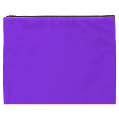 Bright Fluorescent Day glo Purple Neon Cosmetic Bag (XXXL)