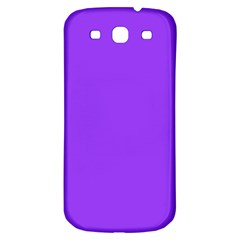Bright Fluorescent Day glo Purple Neon Samsung Galaxy S3 S III Classic Hardshell Back Case