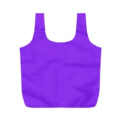 Bright Fluorescent Day glo Purple Neon Full Print Recycle Bags (M)