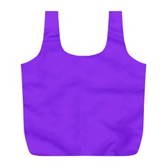 Bright Fluorescent Day glo Purple Neon Full Print Recycle Bags (L)
