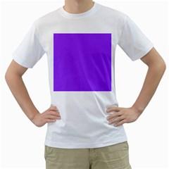 Bright Fluorescent Day glo Purple Neon Men s T-Shirt (White)