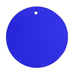 Bright Electric Fluorescent Blue Neon Ornament (Round)
