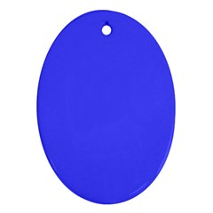 Bright Electric Fluorescent Blue Neon Ornament (Oval)