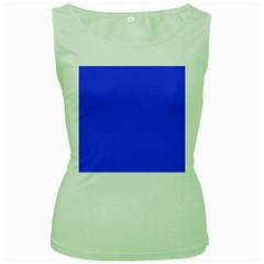 Bright Electric Fluorescent Blue Neon Women s Green Tank Top