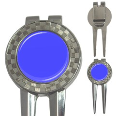 Bright Electric Fluorescent Blue Neon 3-in-1 Golf Divots