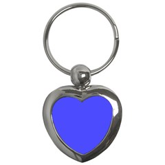 Bright Electric Fluorescent Blue Neon Key Chains (Heart)