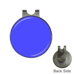 Bright Electric Fluorescent Blue Neon Hat Clips with Golf Markers
