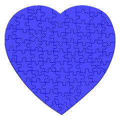 Bright Electric Fluorescent Blue Neon Jigsaw Puzzle (Heart)