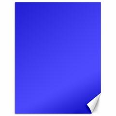 Bright Electric Fluorescent Blue Neon Canvas 12  x 16