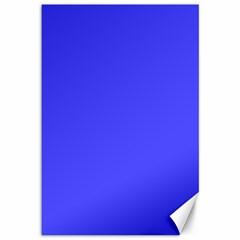 Bright Electric Fluorescent Blue Neon Canvas 12  x 18