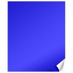 Bright Electric Fluorescent Blue Neon Canvas 16  x 20
