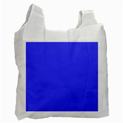 Bright Electric Fluorescent Blue Neon Recycle Bag (Two Side)