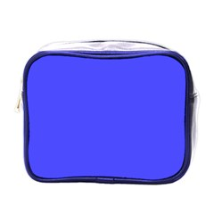 Bright Electric Fluorescent Blue Neon Mini Toiletries Bags