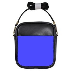 Bright Electric Fluorescent Blue Neon Girls Sling Bags