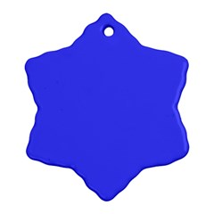Bright Electric Fluorescent Blue Neon Snowflake Ornament (Two Sides)