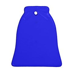 Bright Electric Fluorescent Blue Neon Bell Ornament (Two Sides)