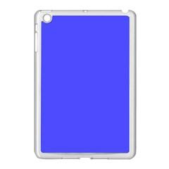 Bright Electric Fluorescent Blue Neon Apple iPad Mini Case (White)