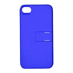 Bright Electric Fluorescent Blue Neon Apple iPhone 4/4S Hardshell Case with Stand