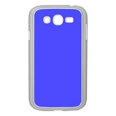Bright Electric Fluorescent Blue Neon Samsung Galaxy Grand DUOS I9082 Case (White)