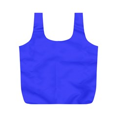 Bright Electric Fluorescent Blue Neon Full Print Recycle Bags (M)