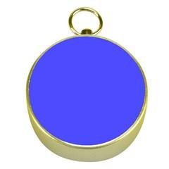 Bright Electric Fluorescent Blue Neon Gold Compasses