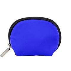 Bright Electric Fluorescent Blue Neon Accessory Pouches (Small)
