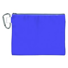 Bright Electric Fluorescent Blue Neon Canvas Cosmetic Bag (XXL)