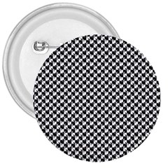 Black and White Checkerboard Weimaraner 3  Buttons