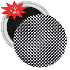 Black and White Checkerboard Weimaraner 3  Magnets (10 pack)